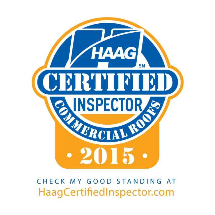 HAAG Certified Commercial Roofing Inspectors 2015 logo