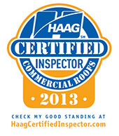 HAAG Certified Commercial Roofing Inspector 2013 Logo