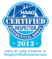 HAAG Certified Residential Roofing Inspector 2013 Logo