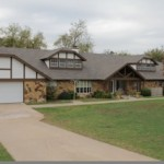 Residential roofing project on large ranch home in Oklahoma City