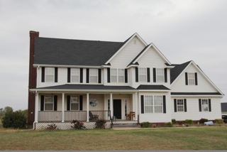 Large roofing project on Oklahoma colonial-style home