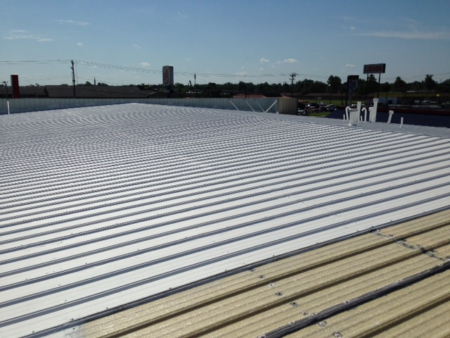 White commercial roof for ProPower in Oklahoma - After image 4
