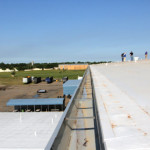 Right side roof gutter on commercial project by Coryell
