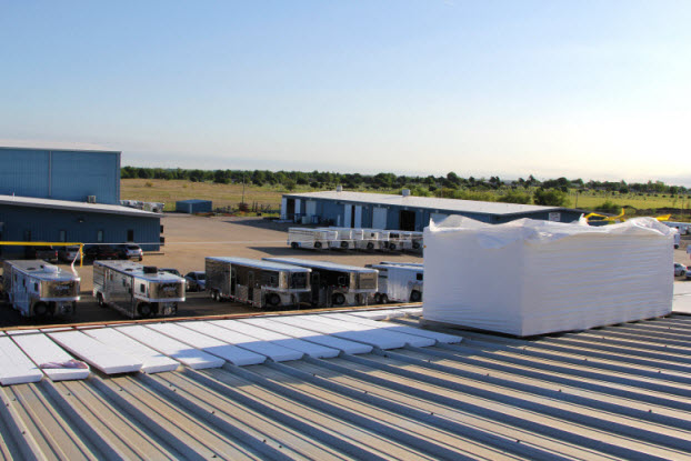 Foam insulation sheets for commercial roof in OK
