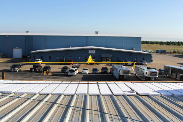 Image of foam insulators for commercial roof in OK