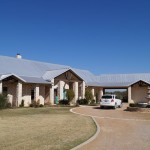 Modern metal roof on residential home in Oklahoma by Coryell