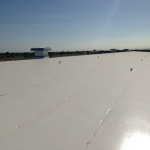 Completed roofing project for commercial business