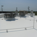 Completed commercial roofing system by Coryell