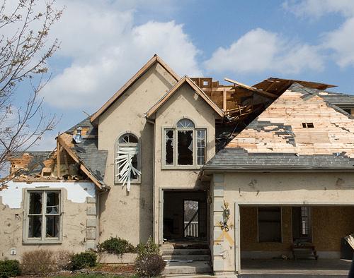 Tornado Damaged Roof Oklahoma