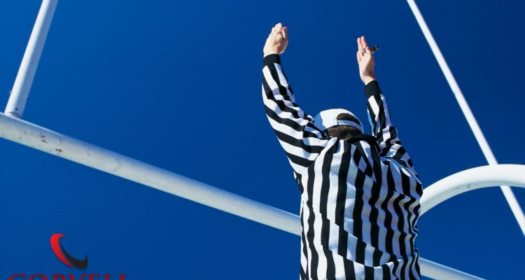 Ref Giving Touchdown Signal