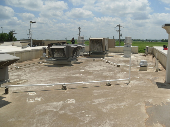 ER Systems Elastomeric Acrylic Roof Coating in Newcastle, OK - Before Image