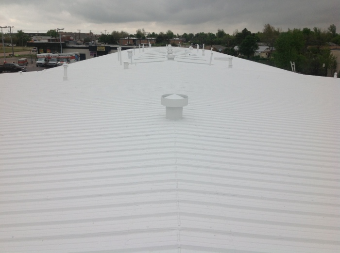 ER Systems Elastomeric Acrylic Roof Coating in Norman, OK - After Image