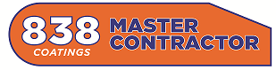838 Coatings Master Contractor Award Logo