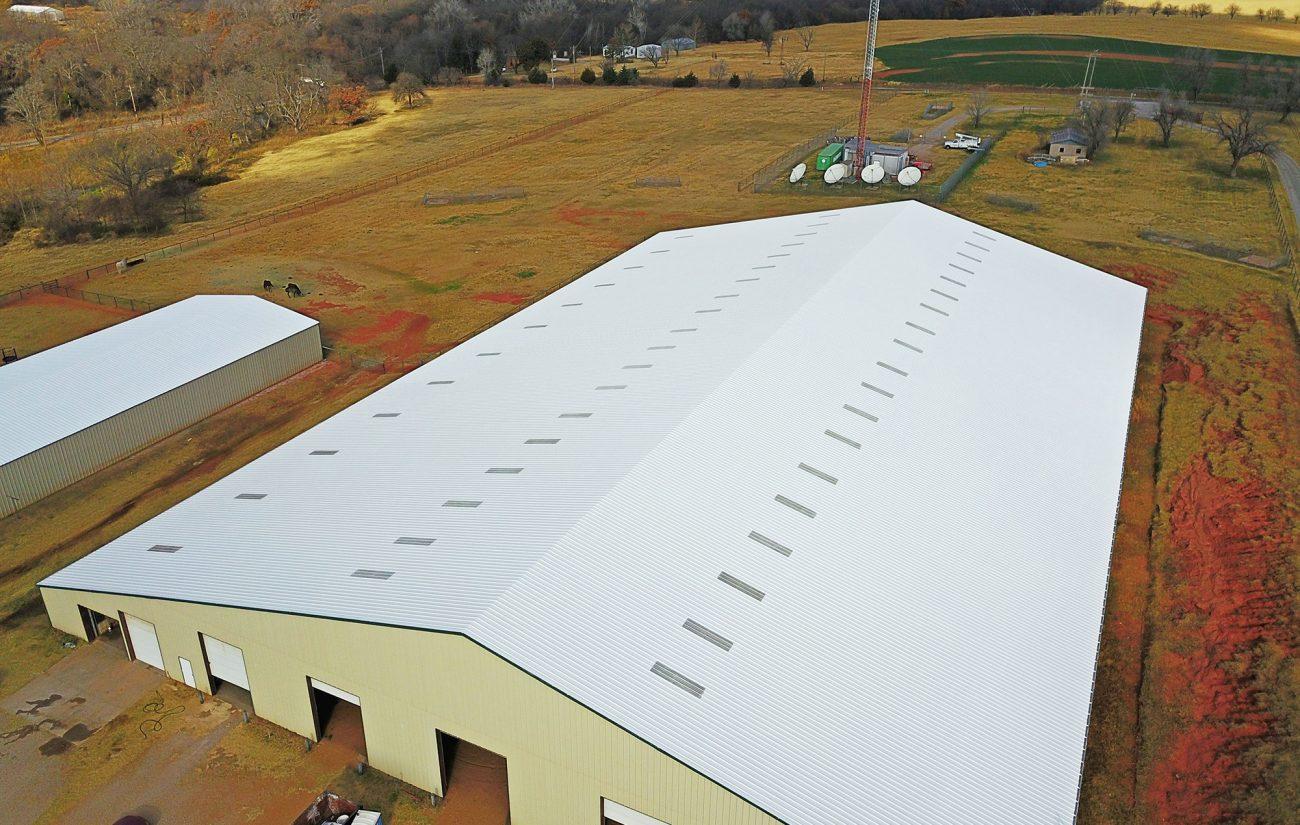 838 Elastomeric Metal Roof Restoration Coating System
