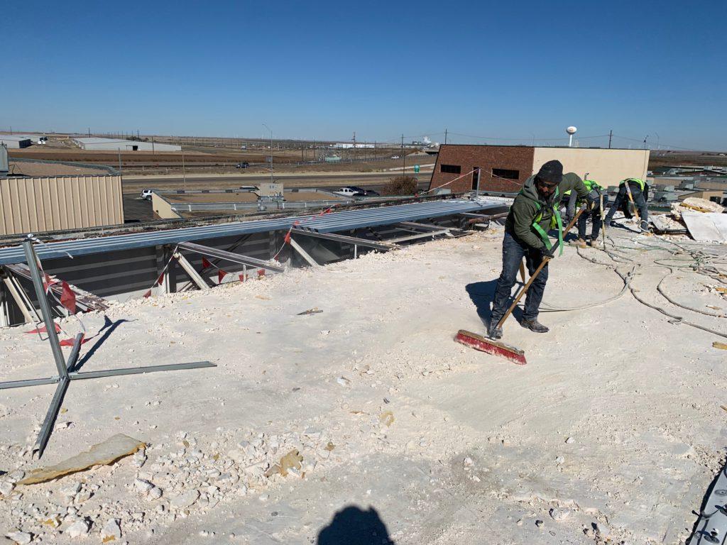 Highland Park HS, Amarillo - Roof Demolition