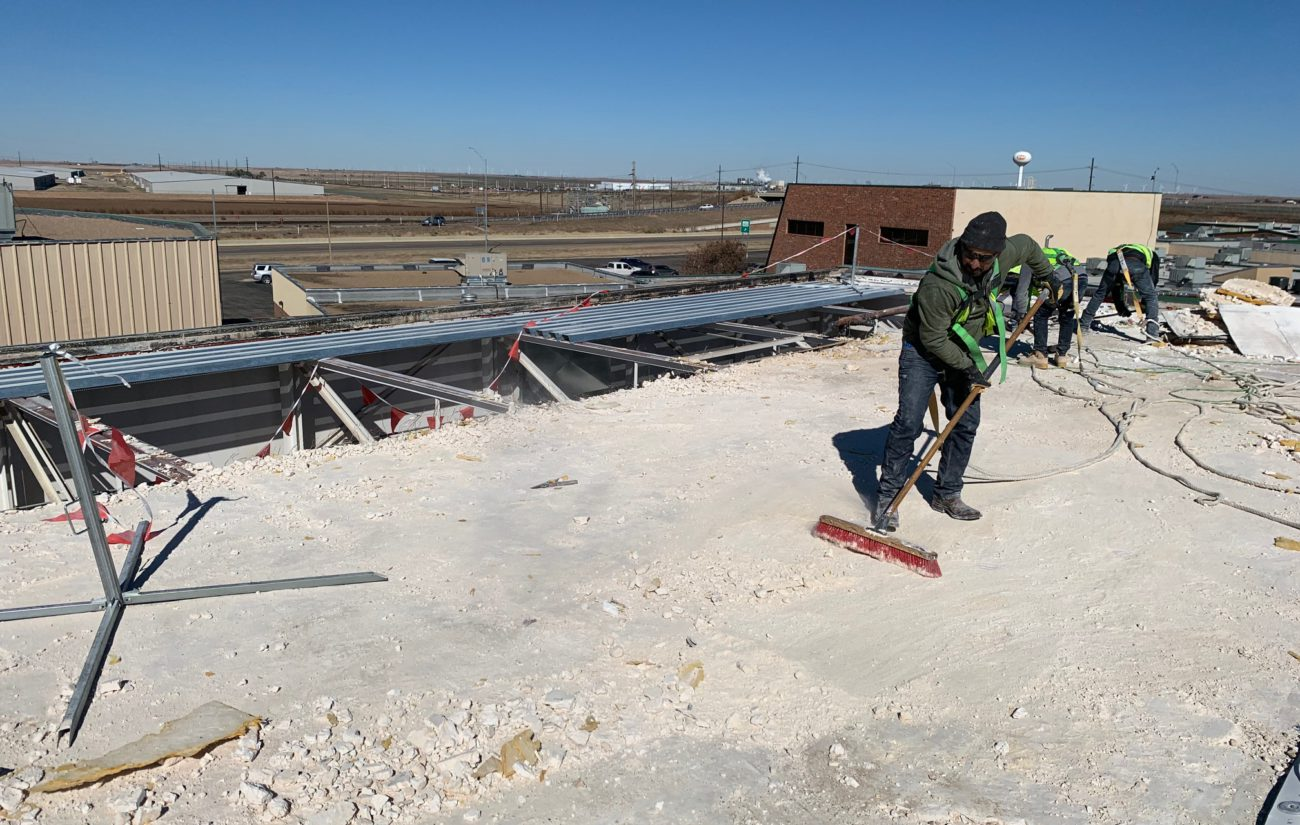 Highland Park HS, Amarillo - Roof Demolition