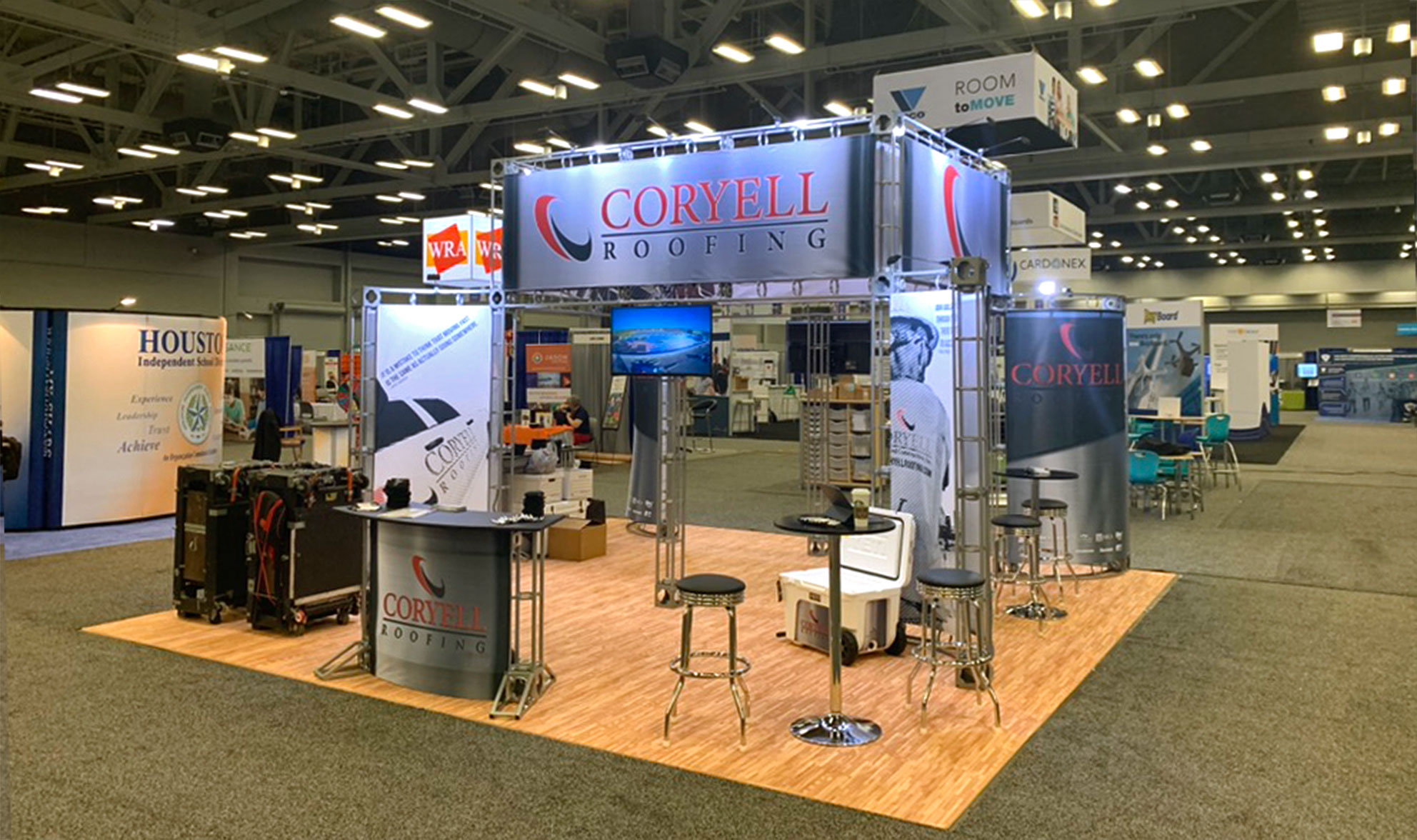 Coryell Flagship Exhibition Booth At The Texas Association Of School Administrators Midwinter Conference