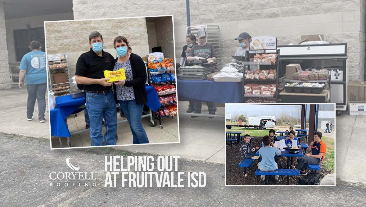 Helping out at Fruitvale ISD | Coryell Roofing