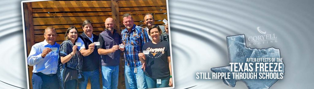 Coryell Roofing and Construction Donate Gift Cards to Denton ISD's Harpool Middle School in Lantana, TX