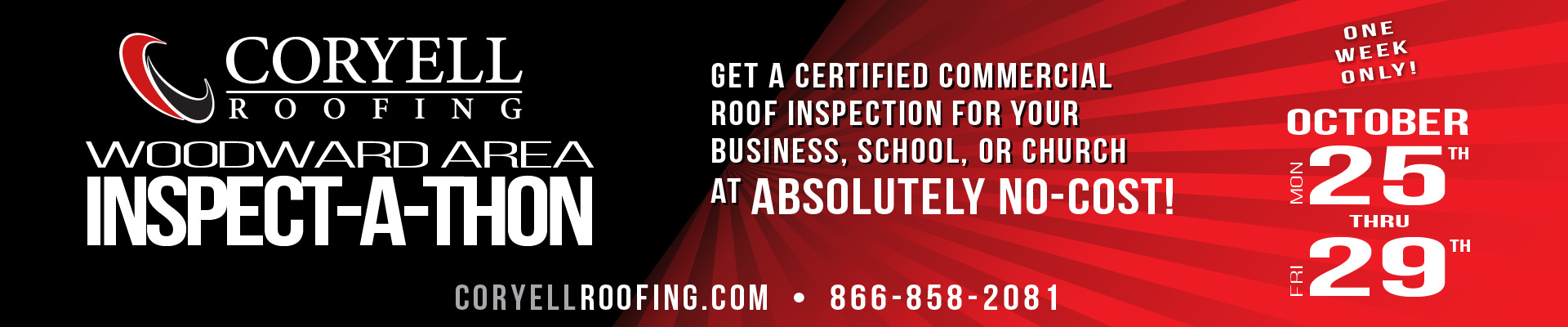 Coryell Roofing Inspect-a-thon - Woodward OK